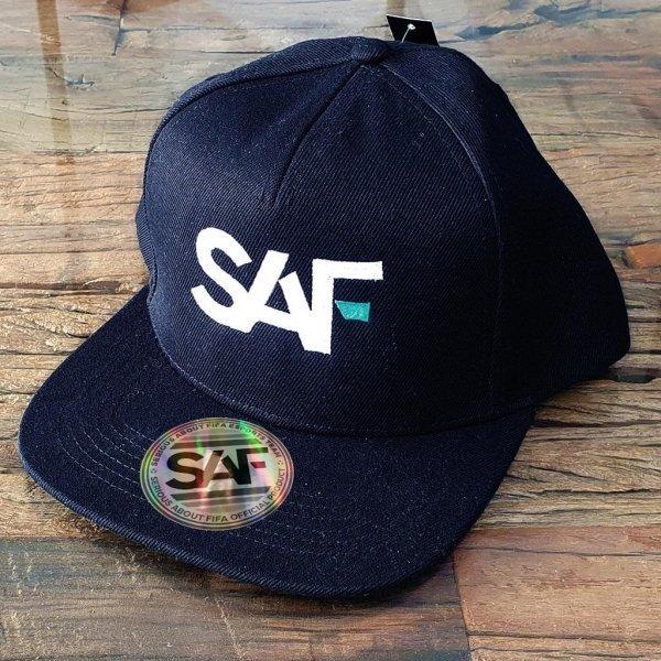 SAF Snapback Cap BLACK front