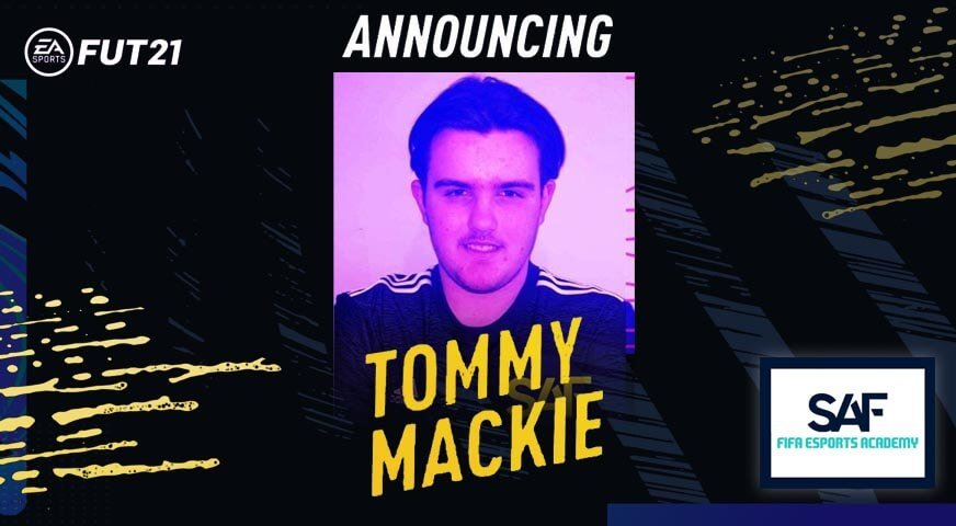 Tommy Mackie Fifa eSports Academy Signing